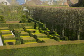 Overview of contemporary topiary garden