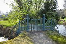 Green gates, path