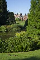 View across pond to Sandringham House