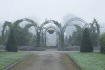 Metal arches, Queen Elizabeth II Golden Jubilee fountain