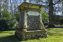 Flint stone cenotaph
