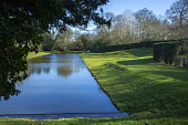 Formal reflective pool, earthworks