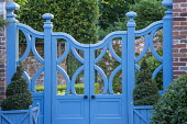Blue painted gate