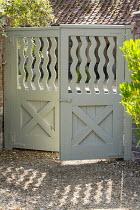 Decorative wooden gate