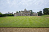 View across lawn to Rousham House