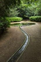 Rill through woodland leading to octagonal pool