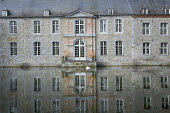 View of Chateau and lake, reflection