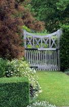 Wooden gate, grass path