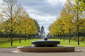Formal water fountain and avenue