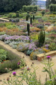 Overview of contemporary perennial border
