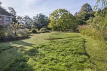 Mown paths through long grass