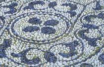 Pebble mosaic designed by Michael Gough