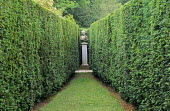 Yew hedges, view to bust on plinth