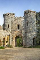 Stone gatehouse, driveway