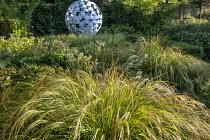 Anemanthele lessoniana, Luzula nivea, Leaf Sphere sculpture by Paul Richardson