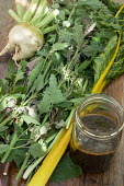 Fermented plant juice, harvested Swiss chard