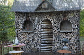 Wooden log house