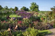 Rose garden, metal ornaments