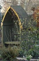 Wooden arbour seat