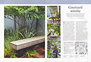 Courtyard serenity Gardens Illustrated August 2013
